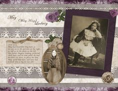 Ludwig Family, pg 2...background papers, embellishments, colors and journaling style remain consistent for a unified look.