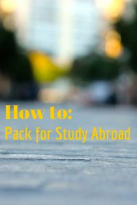 5 Packing Tips: What to add to your suitcase, and what to leave home when you study abroad