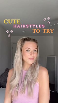 Easy Hairstyles For Long Hair, Summer Hairstyles, Cute Hairstyles, School Hairstyles, Hairdos, Triangle Hair, Hair Up Styles, Aesthetic Hair, Hair Videos