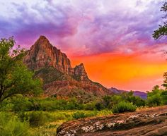 Sunset At The Watchman - Zion National Park