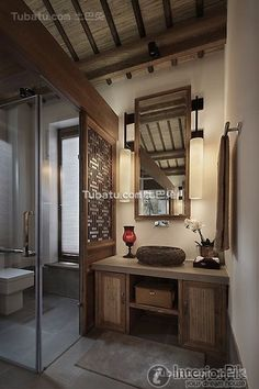 Chinese Style And Elegant Villa Home Bathroom Decoration Picture 2016