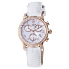 Tissot Women's T0502173611200 Dressport Mother of pearl Chronograph Dial Watch: Watches: Amazon.com