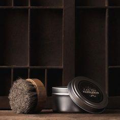 CanYouHandlebar Beard Oil Beard Balm Brush with letterpress drawer
