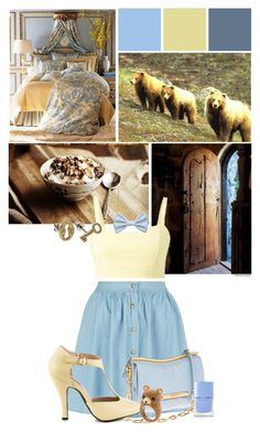 """Blondie Lockes"" by srta-sr ❤ liked on Polyvore featuring Mojo Moxy, French Connection, Accessorize and Nails Inc."