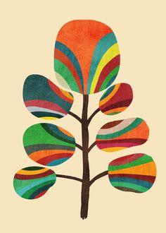 Exotica Art Print by Budi Satria Kwan Mid Century Modern Art, Mid Century Art, Wal Art, Arte Floral, Magazine Art, Botanical Art, Pattern Wallpaper, Collage Art, Flower Art