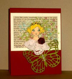 Girl With Roses by CardsbyMel - Cards and Paper Crafts at Splitcoaststampers