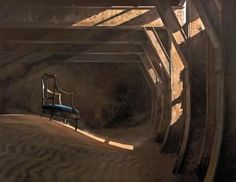 Keith Alexander - have always loved his work Desert Art, South African Artists, Paintings I Love, Illustration Sketches, Abandoned Buildings, Beautiful Interiors, Surrealism, Past, Places To Visit