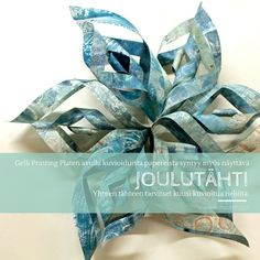 Kaunis joulutähti syntyy kuudesta ornamenttikiekurasta.  jouluaskartelu   askartelu  paperiaskartelu  craft  papercraft a915d3a8f1