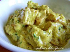 Pražené zemiaky v kešu omáčke - Shahi kaaju aloo  www.receptyzindie1.com