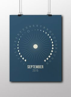 Printable Moon Calendar September October November by Illusorium