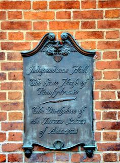 https://flic.kr/p/ae5jcH | Birthplace SIGN AT INDEPENDENCE HALL BD