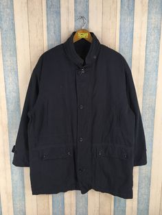 58d21424404c6 GIANNI VALENTINO Jacket Parka Hoodie Large Vintage Gianni Valentino Jeans  Couture Italy Designer Black Casual Harrington Long Coat Size L