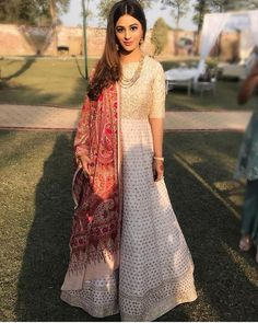 Indian Gowns, Indian Attire, Pakistani Dresses, Indian Wear, Indian Outfits, Indian Designer Outfits, Designer Dresses, Ethnic Fashion, Indian Fashion