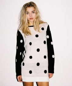 Dotty reversible knitted jumper by Lazy Oaf £45