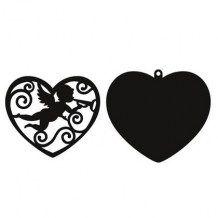 Marianne - FILIGREE ANGEL HEART - vyřezávací šablony