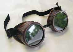 STEAMPUNK CYBER Welders GOGGLES Antique Copper Distressed Rust Look. $29.50, via Etsy.