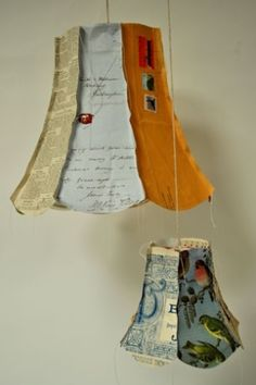 Upcycled lampshades with random book pages and old letters. Upcycled lampshades with random book pages and old letters. Just Think of the endless childrens books you could do this Book Crafts, Diy And Crafts, Arts And Crafts, Paper Crafts, Upcycled Crafts, Repurposed, Diy Projects To Try, Craft Projects, Paper Lampshade