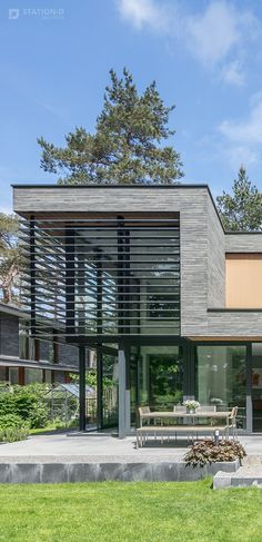 Villa Kerckebosch - Station-D Architects - station-d. Facade Design, Door Design, Exterior Design, Residential Architecture, Amazing Architecture, Interior Architecture, Facade House, Beach House Decor, Apartment Design