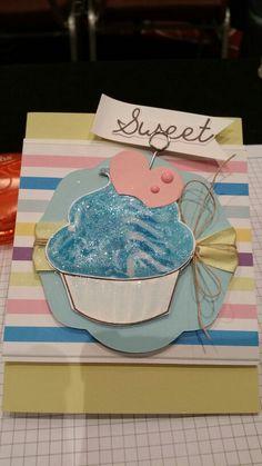 FSJ Sparkle Dust & Journey Glaze frosting cupcake card.