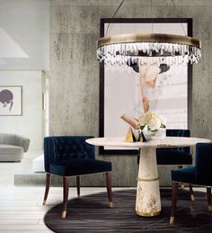 Find inspirations for a modern, elegant dining room with our selection! #diningroom #curateddesign #interiordesign