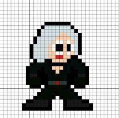Black Widow Avengers Infinity War Perler Bead Pattern