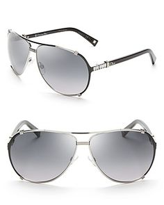 Dior Chicago Metal Aviator Sunglasses with Crystals | Bloomingdale's