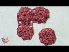 CROSETAT - Floare cu 8 petale Puff-Puff(Crochet Pattern)