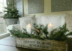 Winter Table Decor | Christmas Centerpiece | Buffet Centerpiece