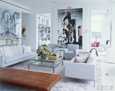 camel and grey interiors | Love this living room gray, white and camel