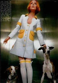 """""""by Courrèges"""" Posted by WE 💜 60s And 70s Fashion, 70s Inspired Fashion, Mod Fashion, Trendy Fashion, Vintage Fashion, Gothic Fashion, Space Fashion, Fashion Design, Style Année 60"""