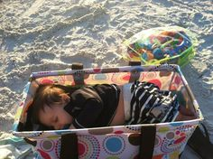 LOL! Who knew...Thirty-one Gifts Large Utility Tote can double as a portable bassinet!