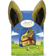 NEW Lindt Gold Bunny & Fluffy Ears Milk 50g #WinEasterChocolateWithLindt