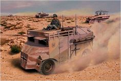 "Panzergruppe ""Africa"", called by the Germans ""Mammoth - Mammoth"" 4x4, Military Art, Military History, Afrika Corps, North African Campaign, Erwin Rommel, Italian Army, Ww2 History, Armored Fighting Vehicle"