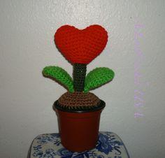 Crochet handmade Heart tree Red by AeLoveCrochetUSA on Etsy, $12.00