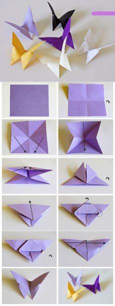 farfalla Origami per la decorazione.