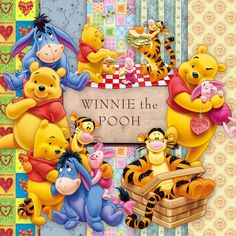 Lindo Scrap de Winnie the Pooh - Cute Girly Eeyore, Tigger And Pooh, Cute Winnie The Pooh, Winne The Pooh, Winnie The Pooh Quotes, Pooh Bear, Art Disney, Disney Fun, Disney Stuff