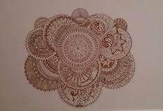 Mandala zentangle by Chrissie Wingate.