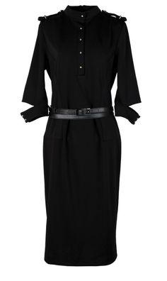 Hot European Stand Collar Dress With Belt
