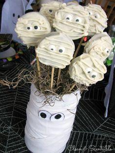 Cute Mummy Oreo pops