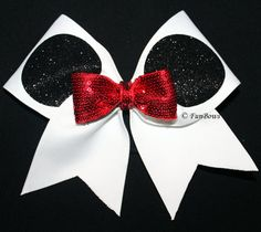 Oh Mickey Simplified Cheer Bow  by Funbows by FunBows on Etsy, $14.00