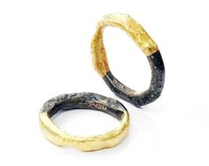 Gold and oxidised silver from Disa Allsopp, wonder if the oxidisation would stay as is through wearing.