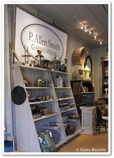 Fabulous shop shelving!