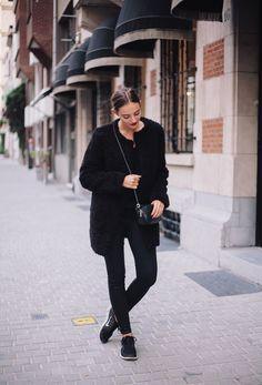 Polienne wears the Rocket Leatherette in Black
