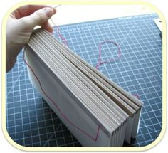 bookbinding tutorial softcover album for wallet-sized photos by Elena from Natures Cubbyhole #DIY