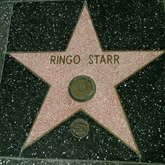 Ringo Starr's Star on the Hollywood Walk of Fame, is located at 1750 Vine Street by Tom Allmon. Les Beatles, Beatles Art, John Lennon Beatles, Hollywood Walk Of Fame, Hollywood Stars, The Quarrymen, Richard Starkey, We Will Rock You, The Fab Four
