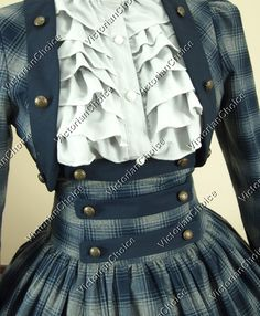 Civil War Gowns | Civil War Victorian Cotton Blends Ball Gown Dress Reenactment Clothing ...