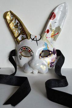 £59.99 Ebay - Alice in Wonderland Rabbit - Masquerade Mask -Steampunk Fantasy OOAK Handcrafted