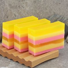 Raspberry Orange Lemonade Layered Handmade by Alaiyna B. Soaps