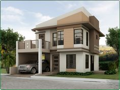 Philippines Affordable House and Lot For Sale - Model Sta Isabelle _B Design Home Plans, Custom Home Plans, Custom Home Designs, Dream Home Design, Cool House Designs, Affordable House Plans, Affordable Housing, Clayton Modular Homes, Philippines House Design