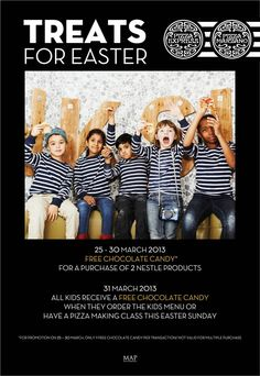 Join the Pizza Marzano & Pizza Express family this joyful Easter for fun filled celebrations and surprises!